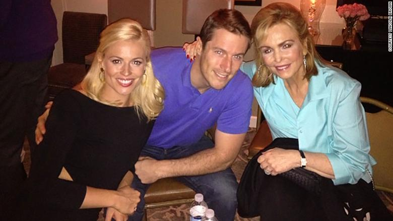 A photo of Pamela Brown, Lincoln Brown, and their mother, Phyllis George.
