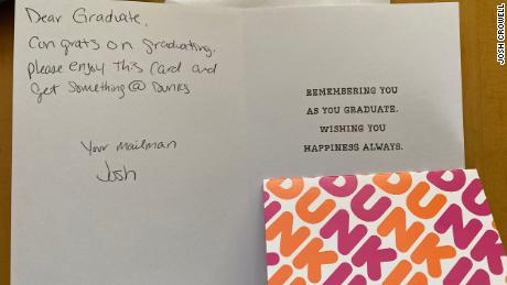 Postal Worker Leaves Gift Cards For