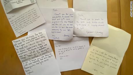 Crowell has received various notes from high school seniors thanking him for his kindness.