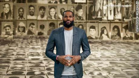 In this screengrab, LeBron James speaks during Graduate Together: America Honors the High School Class of 2020 on May 16, 2020.