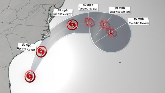 Image for Tropical Storm Arthur forms in the Atlantic