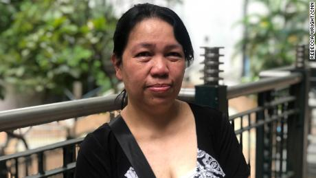 Maria Cristina Y Baolos, domestic worker in Hong Kong.