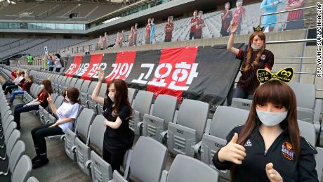 South Korean football club fined $81,300 after filling stands with 'sex dolls'