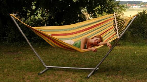 The Holiday Aisle Keith Jet Cotton Hammock with Stand