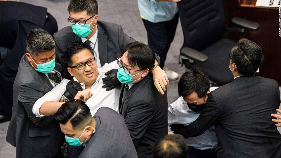 Scuffle breaks out in Hong Kong's Legislative Council