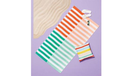 Duo Striped Warm Beach Towel