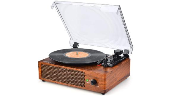 Wood Design Record Player Turntable