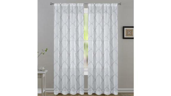 Laura Ashley Geometric Sheer Curtain Panels
