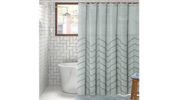 Maya Cotton Geometric Single Shower Curtain