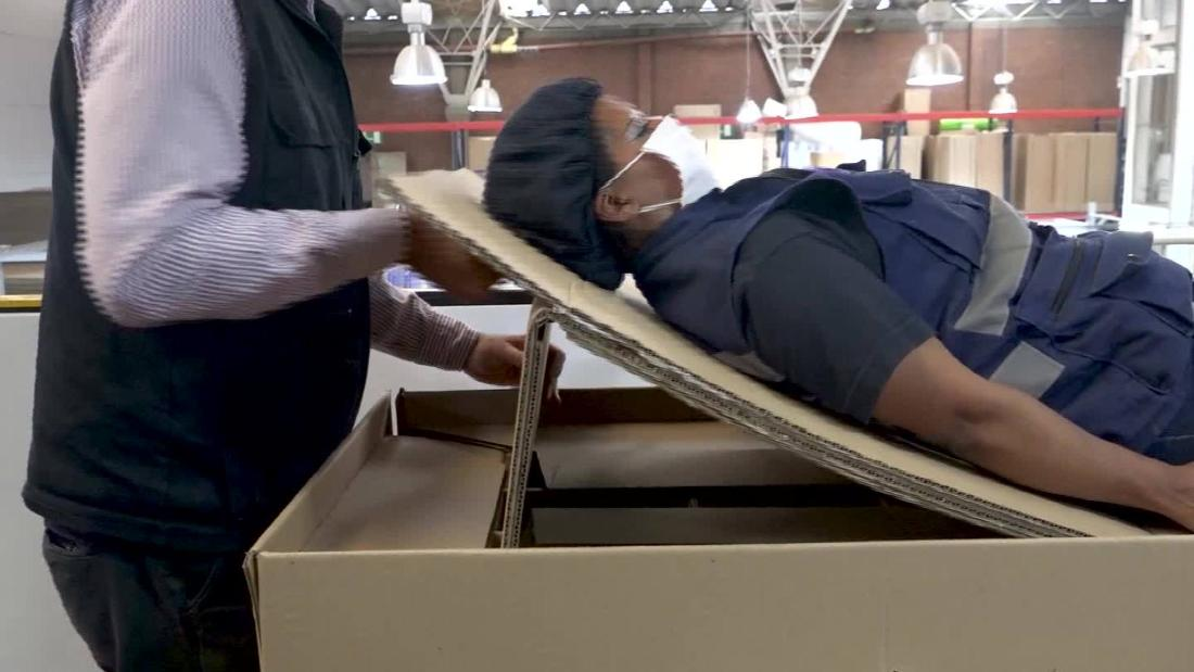 Hospital bed designed for coronavirus transforms into coffin
