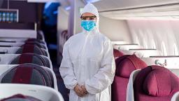 Qatar Airways cabin crew to wear hazmat suits