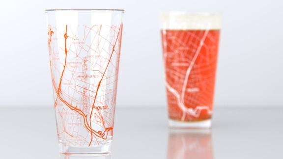 University of Texas College Town Pint Glasses, 2