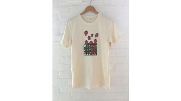 Strawberry Screenprinted Tee Shirt