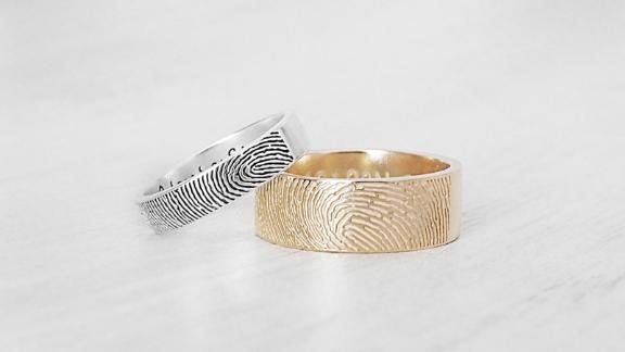 Actual Fingerprint Ring