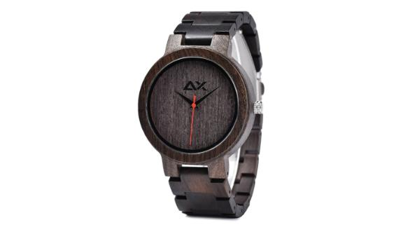 Men's Engraved Wooden Watch