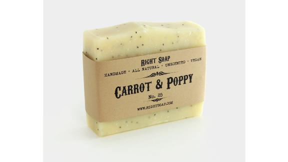 Carrot and Poppy Scrub Soap