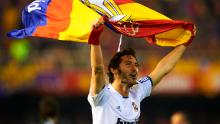 Esteban Granero celebrates after winning the Copa del Rey against Barcelona in 2011.
