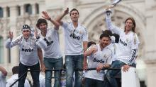 Real Madrid celebrate winning La Liga in 2012.