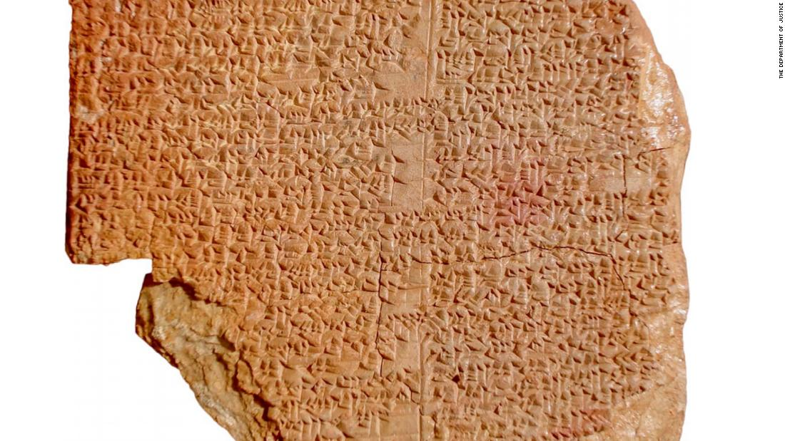 U.S. federal prosecutors are seeking the return to Iraq of a roughly 3,500-year-old clay tablet purchased by the Hobby Lobby arts and crafts store chain for display in the Washington, D.C.-based Museum of the Bible.