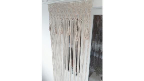 MacrameDecorStore Macrame Door Curtain