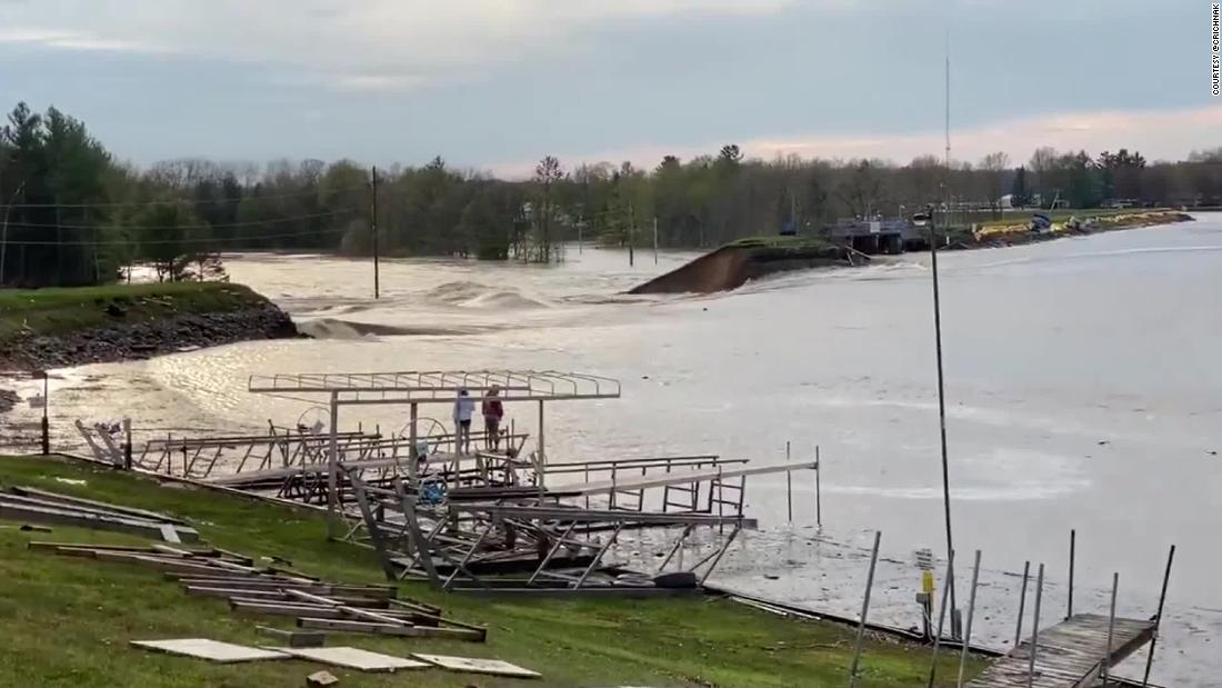 The dam's failure came after days of heavy rain.