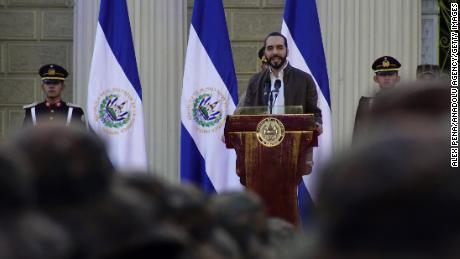 Nayib Bukele on February 18, 2020 in San Salvador.