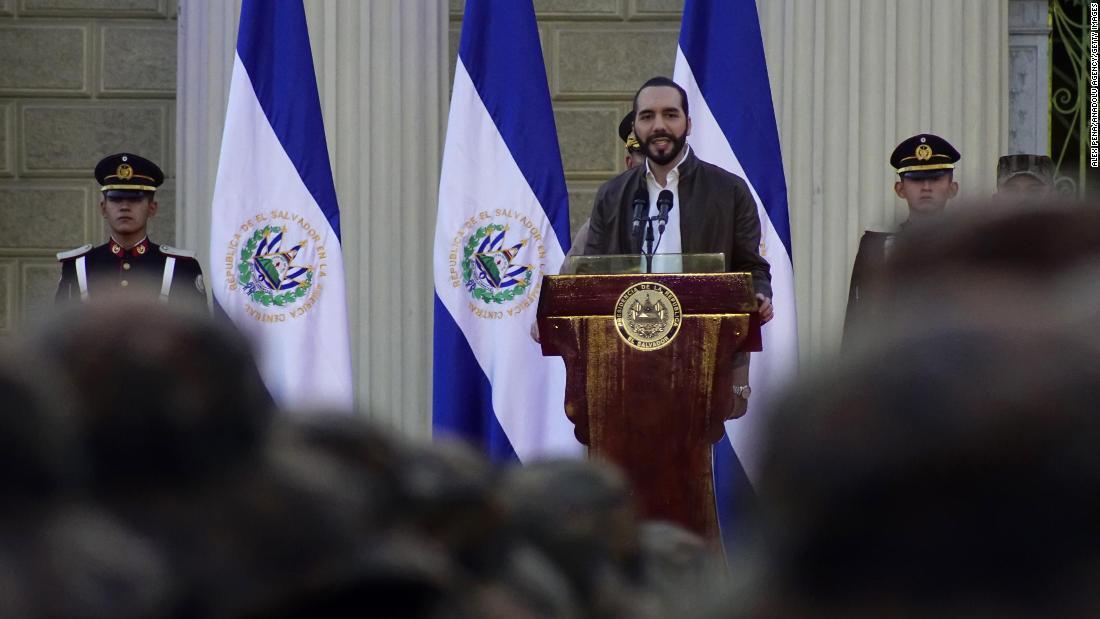 Nayib Bukele on February 18, 2020 in San Salvador.