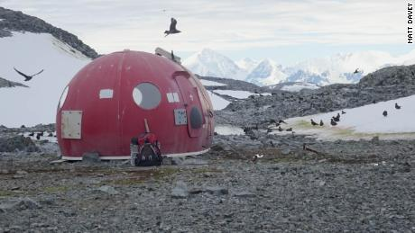 Survival pod on Anchorage Island, Antarctica, 2018.