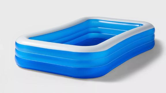 "10' X 22"" Deluxe Rectangular Family Inflatable Above Ground Pool"