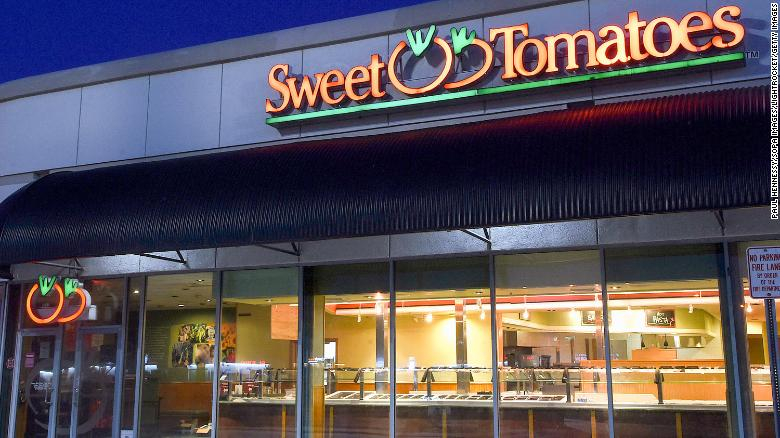 A Sweet Tomatoes restaurant that was temporarily closed due to the Covid-19 pandemic