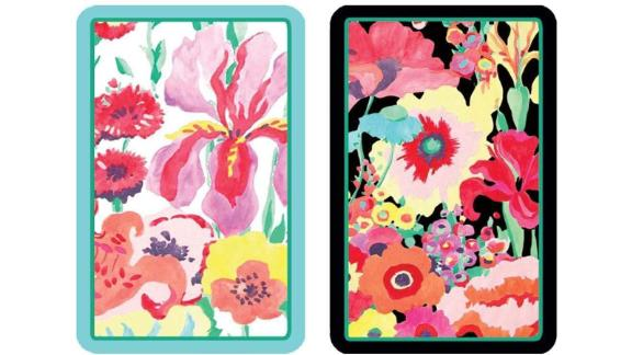 Caspari Secret Garden Large Type Playing Cards, 2 Decks Included