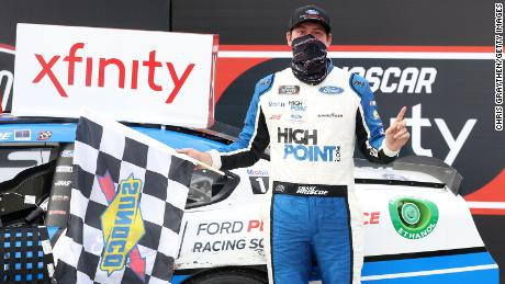 NASCAR driver Chase Briscoe wins the Xfinity Series race on the heels of personal tragedy