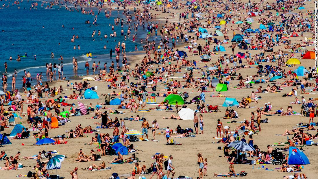 Beach chaos threatens Europe as temperatures rise