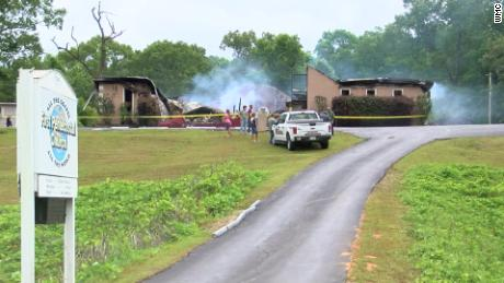Investigators found a Mississippi church on fire. Graffiti was also found on the property in Holly Springs.