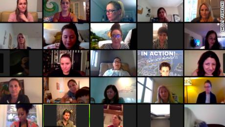 Volunteers for Pandemic of Love communities across the US discuss how to support one another over video conference.