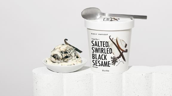 Vanilla + Salted, Swirled Black Sesame