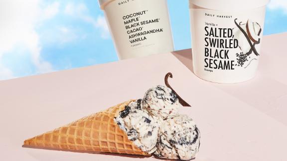 Daily Harvest Scoops Vanilla + Salted, Swirled Black Sesame Ice Cream