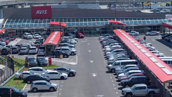 NEW YORK, UNITED STATES - 2020/05/15: Car rental AVIS parking lot is full since there are no customers during COVID-19 pandemic at JFK airport. (Photo by Lev Radin/Pacific Press/LightRocket via Getty Images)
