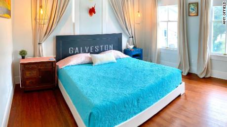 Amy Offield's beach bungalow Airbnb in Galveston, Texas.