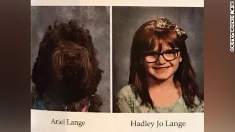 Ariel and Hadley Jo in the yearbook of St. Patrick Catholic School in Louisville.