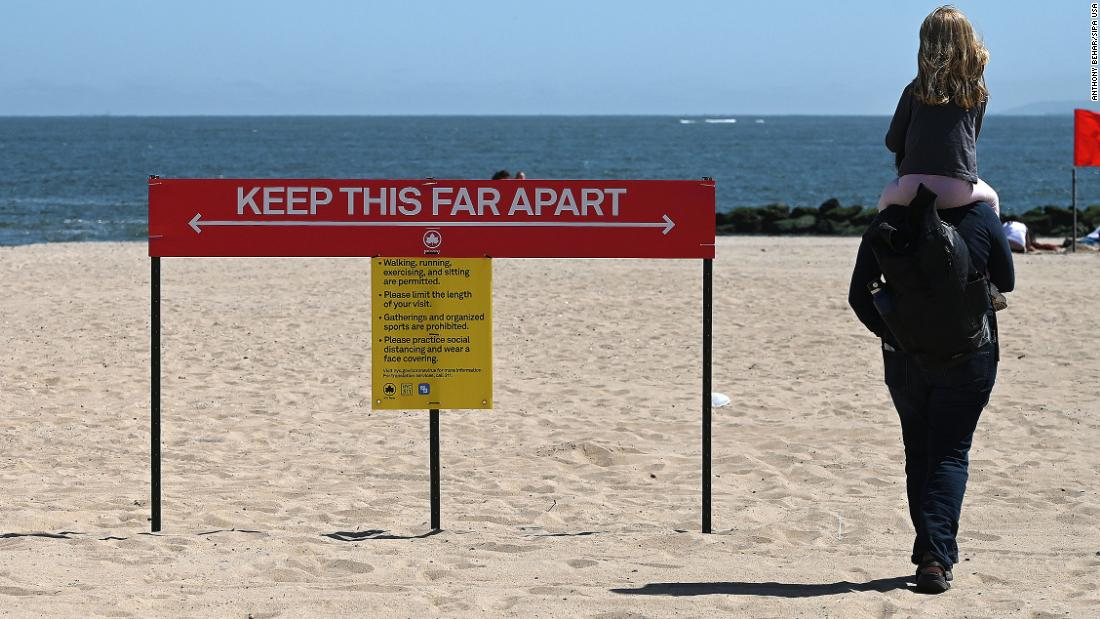 Some beaches will have police to enforce social distancing rules over Memorial Day weekend
