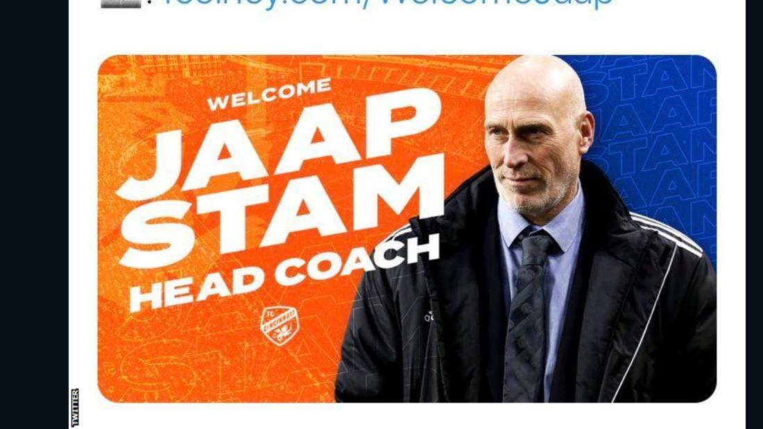 Oops! FC Cincinnati botches unveiling of new coach Jaap Stam
