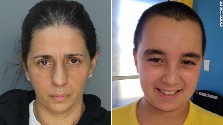 Patricia Ripley, left, faces murder charges in the death of her 9-year-old son, Alejandro.