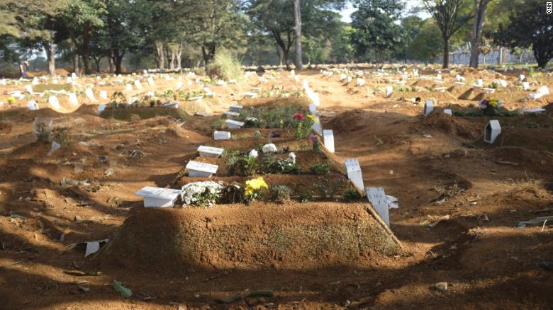 The Vila Formosa cemetery in Sao Paulo has dug thousands of new graves since the pandemic began.