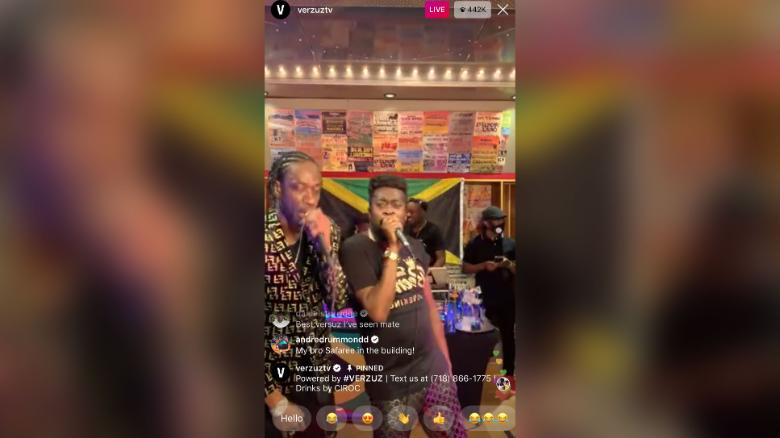 Reggae artists Bounty Killer, left, and Beenie Man compete against each other on Instagram Live on Saturday, May 23, 2020.