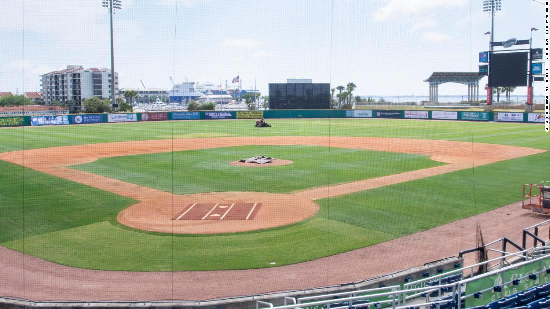 Pro baseball stadium opens for overnight guests on Airbnb