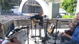 Kenny Loggins performs 'Footloose' at an empty Hollywood Bowl to raise money for Covid-19 relief