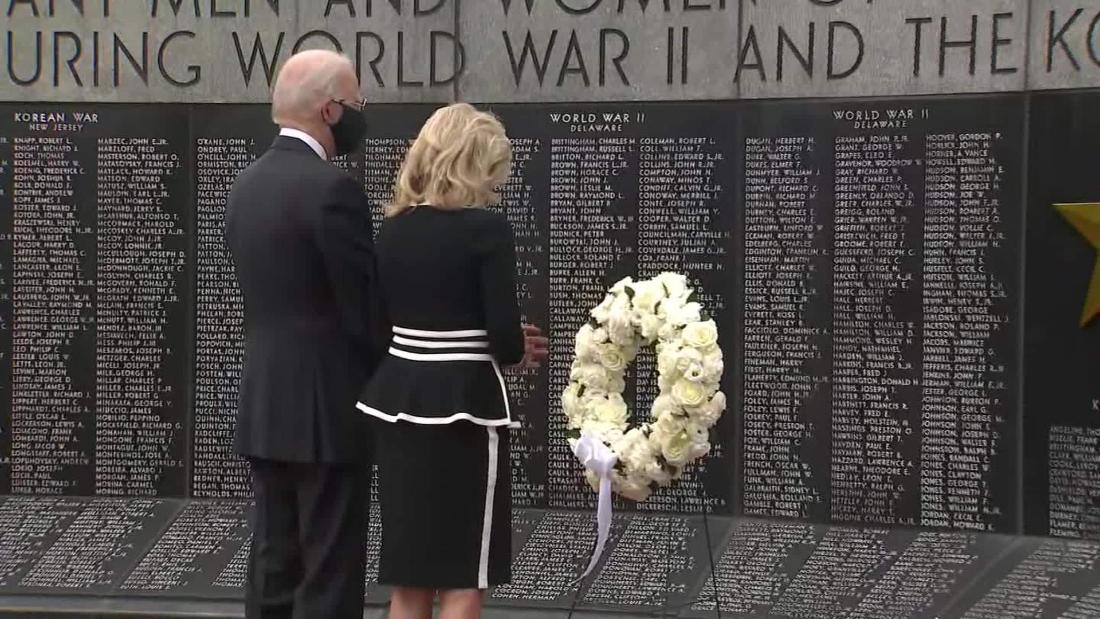 Biden leaves home to lay Memorial Day wreath