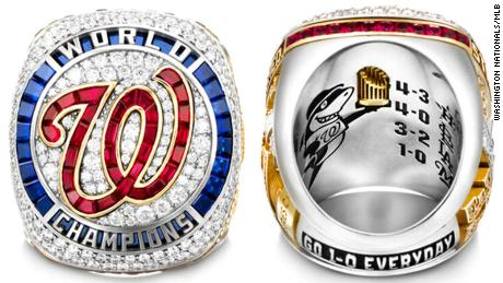 The Washington Nationals have unveiled the design of their 2019 World Series championship ring.