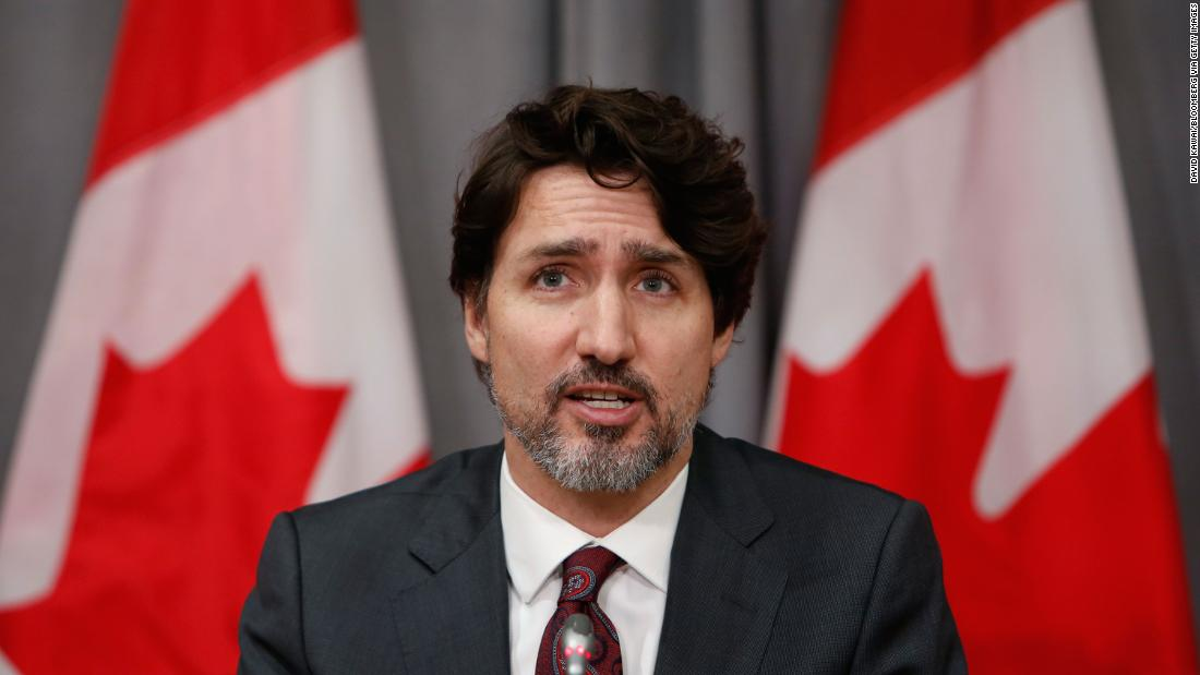 Justin Trudeau, Canada's prime minister, speaks during a news conference on Parliament Hill in Ottawa, Ontario, Canada, on Friday, May 1, 2020. Trudeau said his government will ban more than 1500 types of military grade assault style weapons, effective immediately.